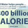 Bottled Water Helps People Save Calories & Water