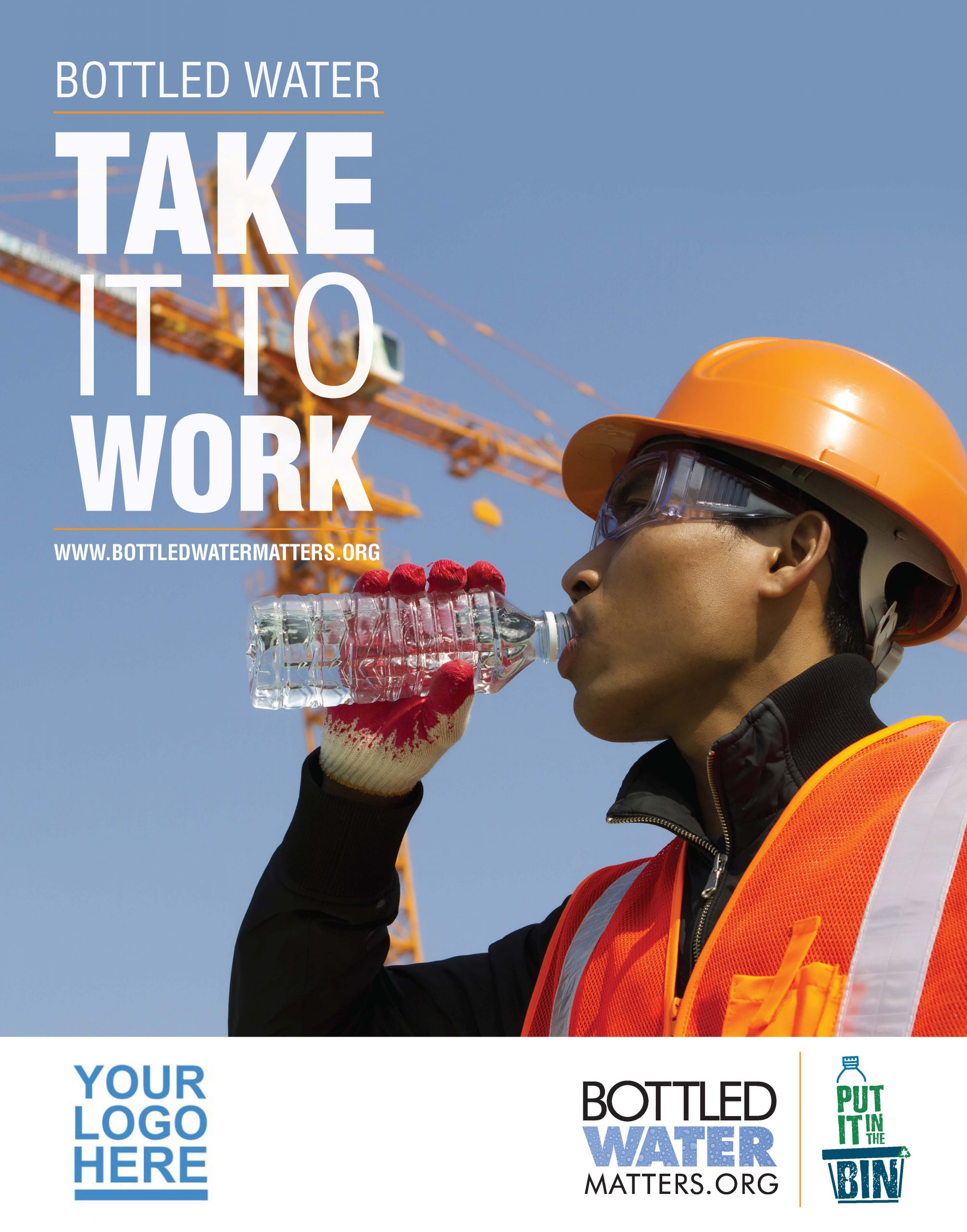 TakeItToWork Hardhat Member Scaled, Bottled Water | IBWA | Bottled Water